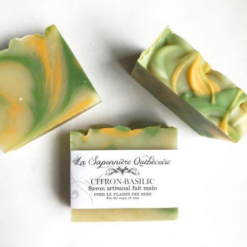 savon au parfum de citron et basilic