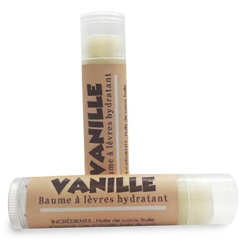 baume à lèvres hydratant et naturel vanille