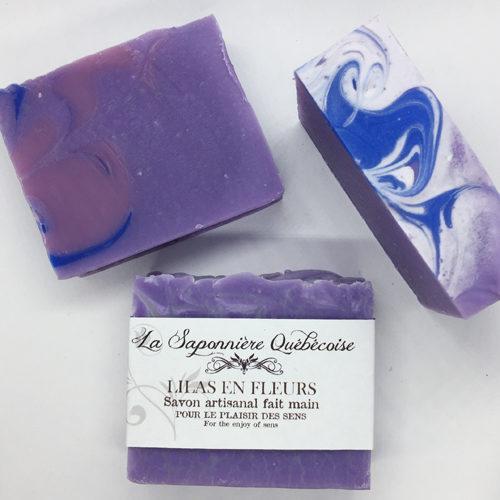 savon artisanal et naturel fait main au lilas