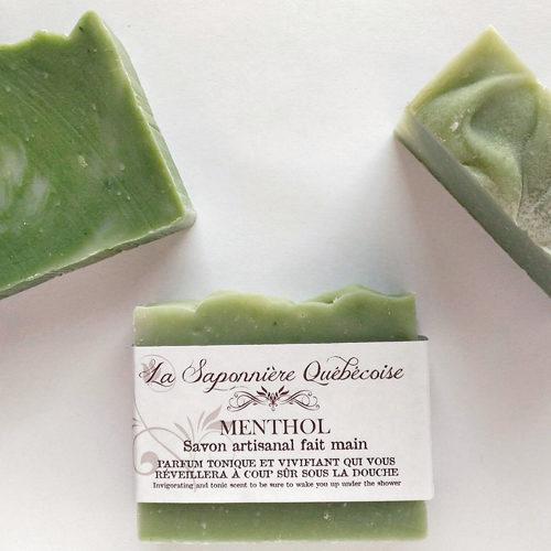 savon naturel et artisanal fait main menthe poivrée eucalyptus romarin