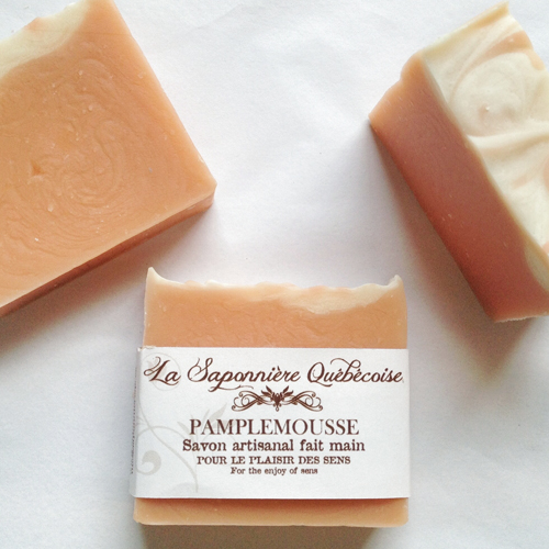 savon naturel et artisanal fait main au pamplemousse