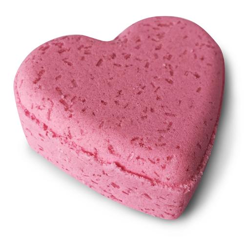 bombe de bain en forme de coeur