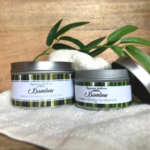 chandelle végétale au parfum de bambou